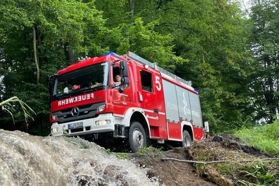 Einsatz der Feuerwahr Odenthal - Sturmtief Bernd